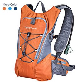Hydration Pack with 2L Backpack hydration Bladder From HappySmile, Great Waterproof Cycling Hiki ...