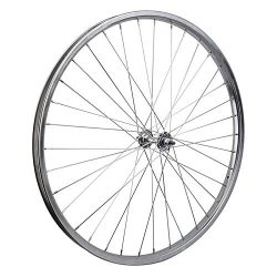 Wheel Master Front Bicycle Wheel 26 x 1.75/2.125 (ISO 559) 36H, Steel, Bolt On, Silver, 3/8″