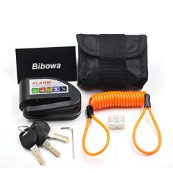 Bibowa Disc Brake Lock With Alarm – Anti -Theft Disc Lock Motorcycle Alarm with 110dB Alar ...