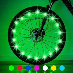 Evaduol Bike Wheel Lights, 7 Colors in 1 Bike Lights,Safety at Night,Switch 9 Modes LED Bike Acc ...