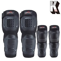 Kagogo Shin Guards Adult Elbow & Knee Pads Protector Flexible Breathable Adjustable Elbow Ar ...