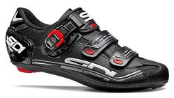Sidi Genius 7 Road Cycling Shoes – Black/Black (EU 45)