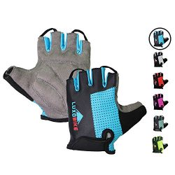 LuxoBike Blue Cycling Gloves Bicycle Gloves Bicycling Gloves Specialized Mountain Bike Gloves Me ...
