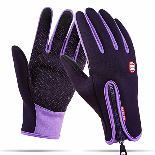 CYG&CL Outdoor Winter Touchscreen Waterproof Warm Adjustable Size Gloves Running, Hiking, Cl ...