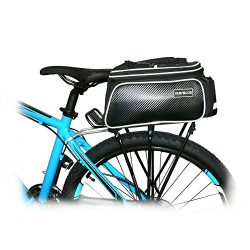 Bike Rear Bag Cycling Rack Rear Bag Zipper Pockets Bottle Case Bike Accessories for Road Mountai ...