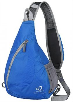 WATERFLY Sling Chest Backpacks Bags Crossbody Shoulder Triangle Packs Daypacks for Cycling Walki ...