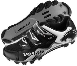 Venzo Mountain Bike Bicycle Cycling Shimano SPD Shoes Black 46