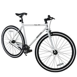 Murtisol Mountain Bike Men's and Women's Bike 26″ 18 Speed Fixed Gear Urban Hybrid Bicycle