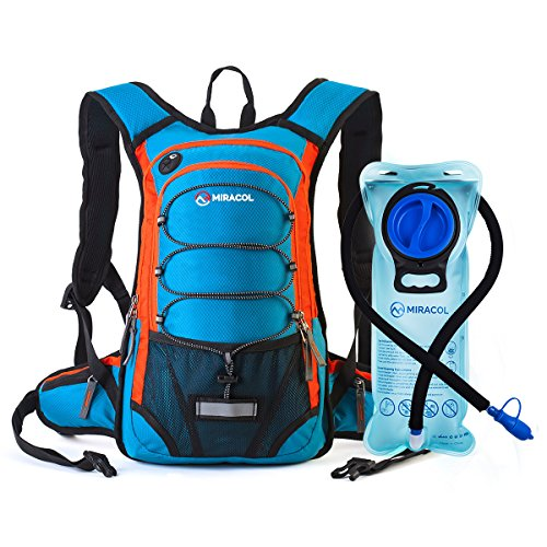 MIRACOL Hydration Backpack with 2L Water Bladder, Thermal Insulation Pack Keeps Liquid Cool up t ...