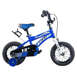 Tauki Kid Bike BMX Bikes for Boys 12 Inch with Training Wheels and Hand Brake, 95% Assembled, Blue
