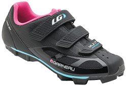 Louis Garneau – Women's Multi Air Flex Bike Shoes, Black/Pink, US (9), EU (40)