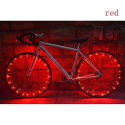 Glumes Bike Wheel String Lights, LED IP55 Waterproof Bicycle Spoke Light 20 LED Bicycle Rim Tire ...