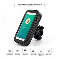 Waterproof Bike Mount Holder For Cellphone,Motorcycle&Bike Waterproof Bag Cycling Phone Hold ...