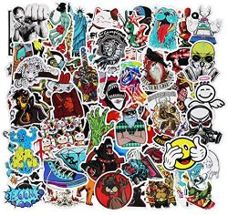 Cool Teens 100 Pieces Cool Stickers Pack Waterproof Funny Graffiti Stickers Decals Laptop Bumper ...