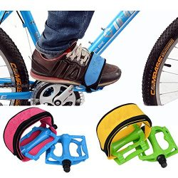 Exinnos Cycling Fixed Gear Bike Bicycle Pedal Foot Strap Binding Band – (Color: Red) ̵ ...